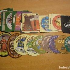 Coleccionismo de cervezas: COLECCIÓN DE 26 POSAVASOS DE CERVEZA. CERVEZAS INGLESAS, ESCOCESAS E IRLANDESAS. Lote 113702043
