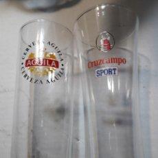 Coleccionismo de cervezas: VASOS ANTIGUOS DE CERVEZA DE TUBO. Lote 113854739