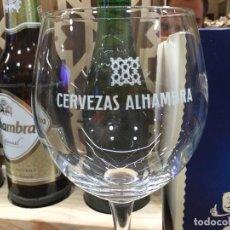 Coleccionismo de cervezas: CAJA CON 12 COPAS CERVEZA ALHAMBRA.. Lote 114179899