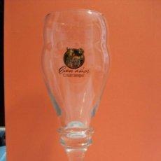 Coleccionismo de cervezas: COPA DE CERVEZA CRUZCAMPO 100 AÑOS. 1904. Lote 114329611