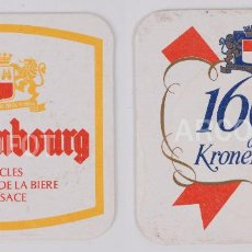Coleccionismo de cervezas: COASTERS - POSAVASOS CERVEZA KRONENBOURG - 1664 - ENVÍO GRATUITO. Lote 114611879