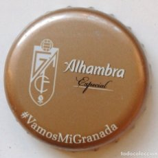 Coleccionismo de cervezas: CHAPA CERVEZA ALHAMBRA VAMOS MI GRANADA - ESPAÑA. Lote 205866112