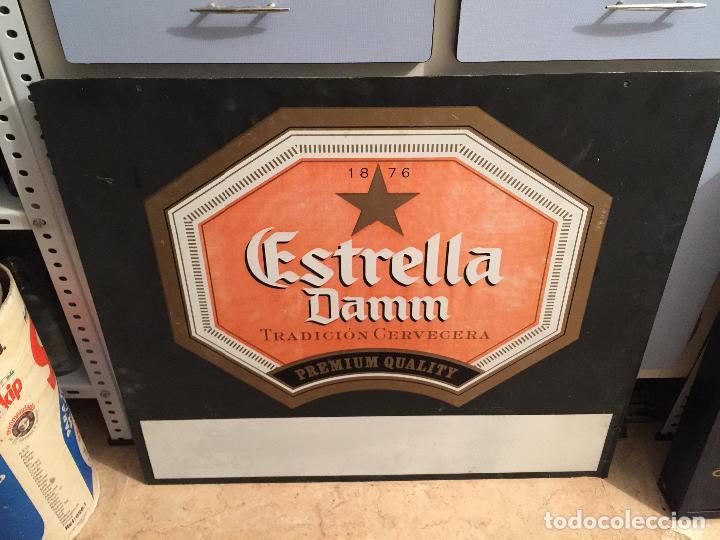 Coleccionismo de cervezas: ANTIGUO CARTEL DE CERVEZA ESTRELLA DAMM - Foto 2 - 114910423