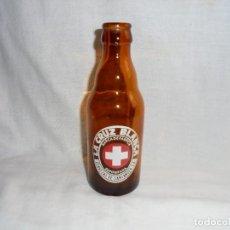 Coleccionismo de cervezas: BOTELLIN DE CERVEZA LA CRUZ BLANCA.CERVEZAS DE SANTANDER. Lote 115021839
