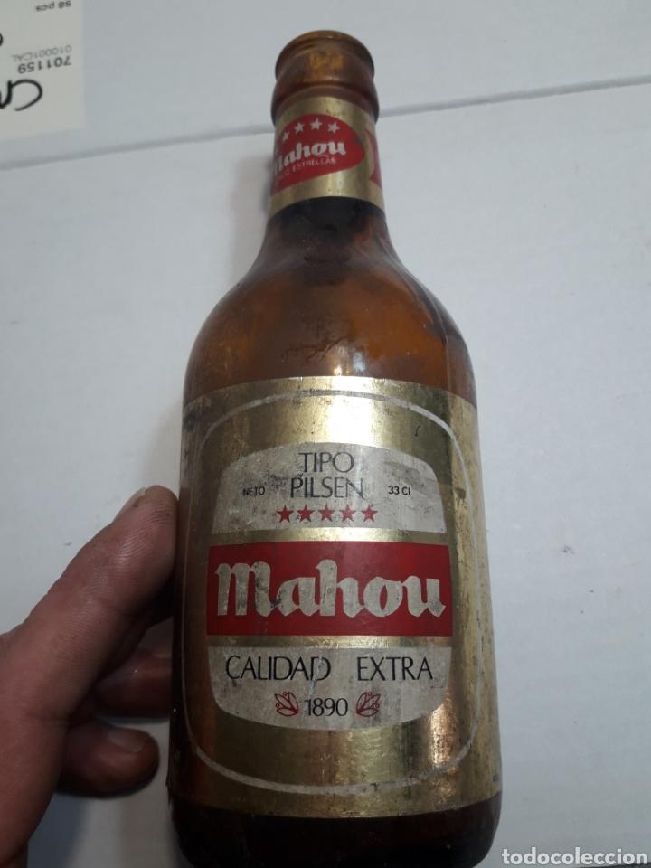 BOTELLA ANTIGUA DE CERVEZA MAHOU 5 ESTRELLAS DE LAS PRIMERAS (Coleccionismo - Botellas y Bebidas - Cerveza )