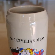 Coleccionismo de cervezas: JARRA DE CERVEZA NO. 1 CIVILIAN MESS 13-OCTOBER-2007 CAPACIDAD 1 LITRO BASE GAIL 534 VER FOTOGRAFIAS. Lote 116858395