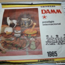 Coleccionismo de cervezas: CALENDARIO DE PARED CERVEZAS DAMM 1965. Lote 117675562