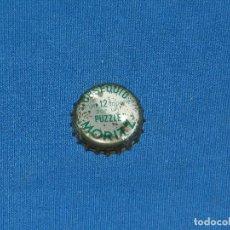 Coleccionismo de cervezas: (M) CHAPA TAPON CERVEZA MORITZ OBSEQUIO PUZZLE , COLOR VERDE , SEÑALES DE USO. Lote 117902531