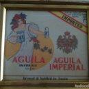 Coleccionismo de cervezas: ANTIGUO CARTÓN CERVEZAS AGUILA IMPERIAL PARA EXPORTACIÓN. GOLDEN MERCURY 1971 EUROPEAN AWARD.. Lote 118704239
