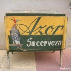 Coleccionismo de cervezas: NEVERA CERVEZA EL AZOR CARTAGENA, MURCIA. VINTAGE.. Lote 118959015