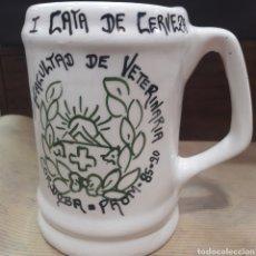 Coleccionismo de cervezas: JARRA CERVEZA I CATA CERVEZA FACULTAD VETERINARIA 1985 90 CÓRDOBA. Lote 119217730