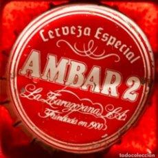 Coleccionismo de cervezas: CHAPA DE LA FÁBRICA DE CERVEZAS LA ZARAGOZANA. Lote 119736055