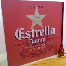 Coleccionismo de cervezas: CARTEL LUMINOSO VINTAGE. ESTRELLA DAMM. AÑOS 80. Lote 120162635