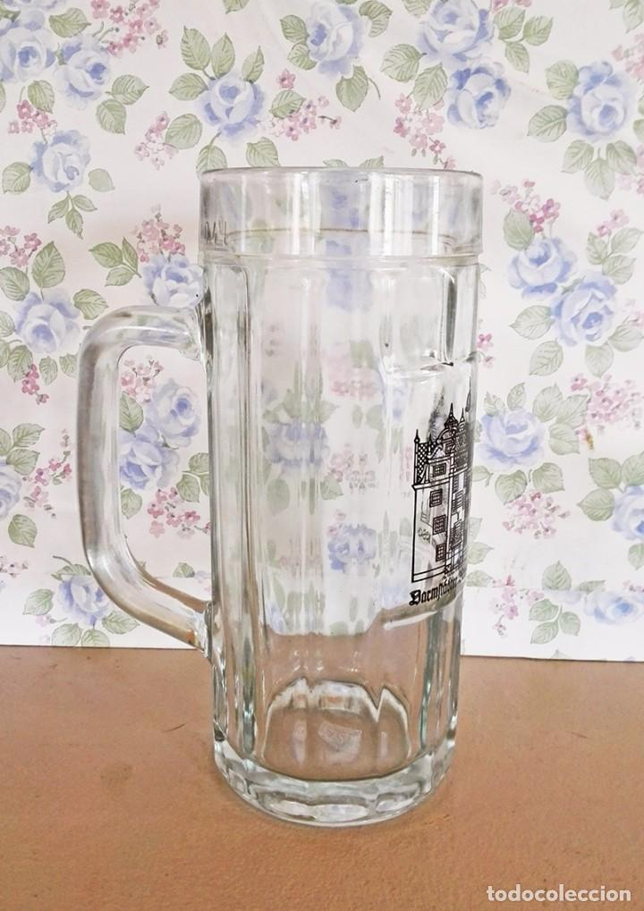 Coleccionismo de cervezas: Jarra cerveza alemana cristal o vidrio 1/2 l - Foto 2 - 120559791