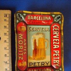 Coleccionismo de cervezas: (PUB-180517)CENICERO DE LATA CERVEZA PETRY - ANTES MORITZ. Lote 121354331