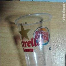 Coleccionismo de cervezas: VASO PLASTICO - CERVEZA ESTRELLA DAMM / BURGER KING. Lote 122017291