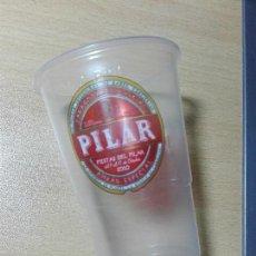 Coleccionismo de cervezas: VASO PLASTICO - CERVEZA AMBAR - FIESTAS DEL PILAR 2010. Lote 122018035