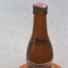 Coleccionismo de cervezas: RARA BOTELLA QUINTO ESTRELLA DAMM LETRAS RELIEVE LLENA CASI IMPECABLE DIFICIL EN ESTE ESTADO. Lote 122037547