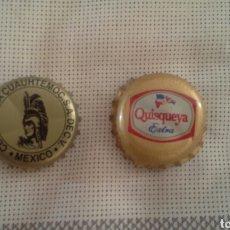 Coleccionismo de cervezas: TAPÓN ROSCA CERVEZA CUAHTEMOC Y QUISQUEYA EXTRA.. Lote 122169684
