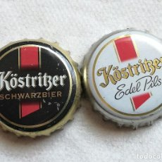 Coleccionismo de cervezas: LOTE 2 CHAPAS KRONKORKEN CAPS TAPPI CERVEZA KOSTRITZER. ALEMANIA. Lote 122180483