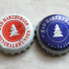 Coleccionismo de cervezas: LOTE 2 CHAPAS KRONKORKEN CAPS TAPPI AGUA MINERAL BAD HARZBURGUER. ALEMANIA. Lote 122180611