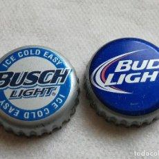 Coleccionismo de cervezas: LOTE 2 CHAPAS KRONKORKEN CAPS TAPPI CERVEZA ANHEUSER BUSCH. ESTADOS UNIDOS DE AMÉRICA. Lote 122180727