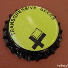 Coleccionismo de cervezas: CHAPA CERVEZA ARTESANA TRANSGRESSIVE BEERS(1). ELCHE.FAB. CHAPA:U---LOTE N. 2786---CARMANJO. Lote 122604091