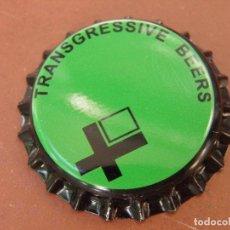 Coleccionismo de cervezas: CHAPA CERVEZA ARTESANA TRANSGRESSIVE BEERS(2). ELCHE.FAB. CHAPA:U---LOTE N. 2787---CARMANJO. Lote 122604251