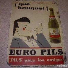 Coleccionismo de cervezas: CARTEL METALICO...PUBLICIDAD EURO PILS..POSTERIORMENTE CERVEZAS DAMM. Lote 122985671