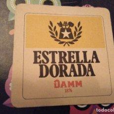 Coleccionismo de cervezas: POSAVASOS BIERDECKEL COASTER CERVEZA ESTRELLA DORADA DAMM 1876 TRASERA EN BLANCO. Lote 123021391
