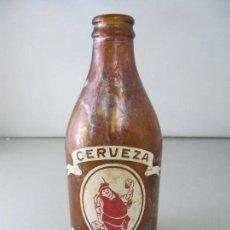 Coleccionismo de cervezas: ANTIGUA BOTELLA DE CERVEZA CRUZCAMPO. TAMAÑO 1/3. Lote 123083107