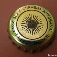 Coleccionismo de cervezas: 1 CHAPA CERVEZA ARTESANA GÈNESIS. VALENCIA .----LOTE N. 2795----CARMANJO. Lote 123134011