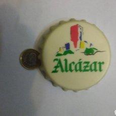 Coleccionismo de cervezas: CERVEZA ALCAZAR. IMÁN GIGANTE MUY ANTIGUO Y RARO.. Lote 123555691