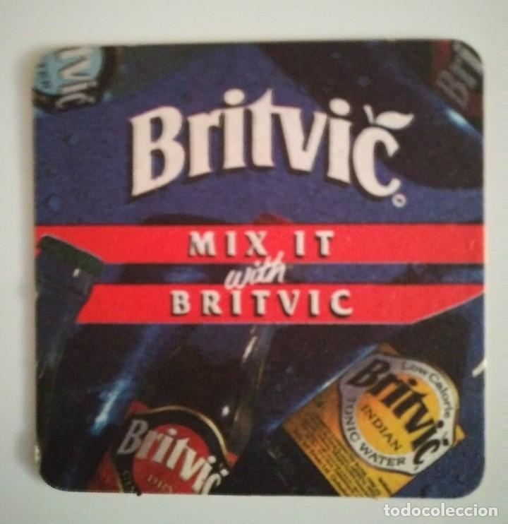 BRITVIC MIX IT POSAVASOS doble cara 9cm CARTÓN COASTERS CERVEZA BEER - 124144071