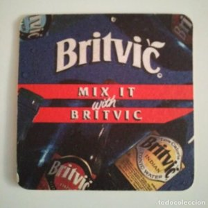 BRITVIC MIX IT POSAVASOS doble cara 9cm CARTÓN COASTERS CERVEZA BEER
