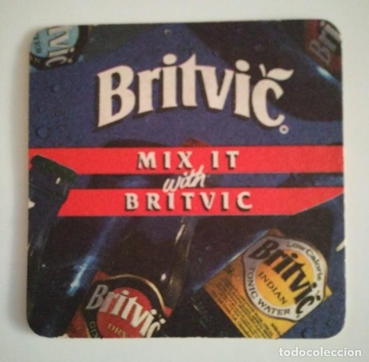 BRITVIC MIX IT POSAVASOS doble cara 9cm CARTÓN COASTERS CERVEZA BEER - 124144215