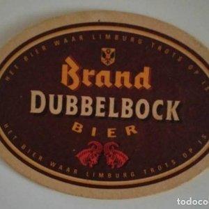 BRAND DUBBELBOCK BIER POSAVASOS 13,2CM X 9,3CM CARTÓN COASTERS CERVEZA BEER DUBBEL BOCK