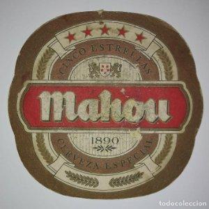 MAHOU ANTIGUO POSAVASOS 10cm X 10,2cm IMPRESOS POR AMBAS CARAS CARTON COASTERS CERVEZA BEER