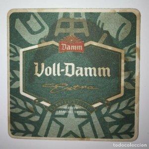 VOLL-DAMM POSAVASOS CARTON COASTERS BEER 9CM VOLL DAMM EXTRA GENUINE QUALITY CERVEZA ESPECIAL