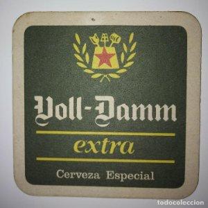 VOLL-DAMM POSAVASOS CARTON COASTERS BEER 9CM VOLL DAMM EXTRA CERVEZA ESPECIAL