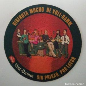 VOLL-DAMM POSAVASOS CARTON COASTERS BEER 10,6CM DISFRUTA MUCHO DE VOLL DAMM SIN PRISAS POR FAVOR