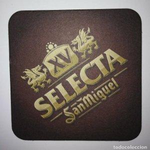 SAN MIGUEL XV SELECTA POSAVASOS CARTON COASTERS BEER 9CM CERVEZA SANMIGUEL