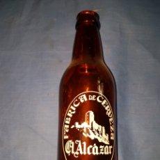 Coleccionismo de cervezas: BOTELLA CERVEZA TERCIO ALCAZAR SERIGRAFIA. Lote 124259450