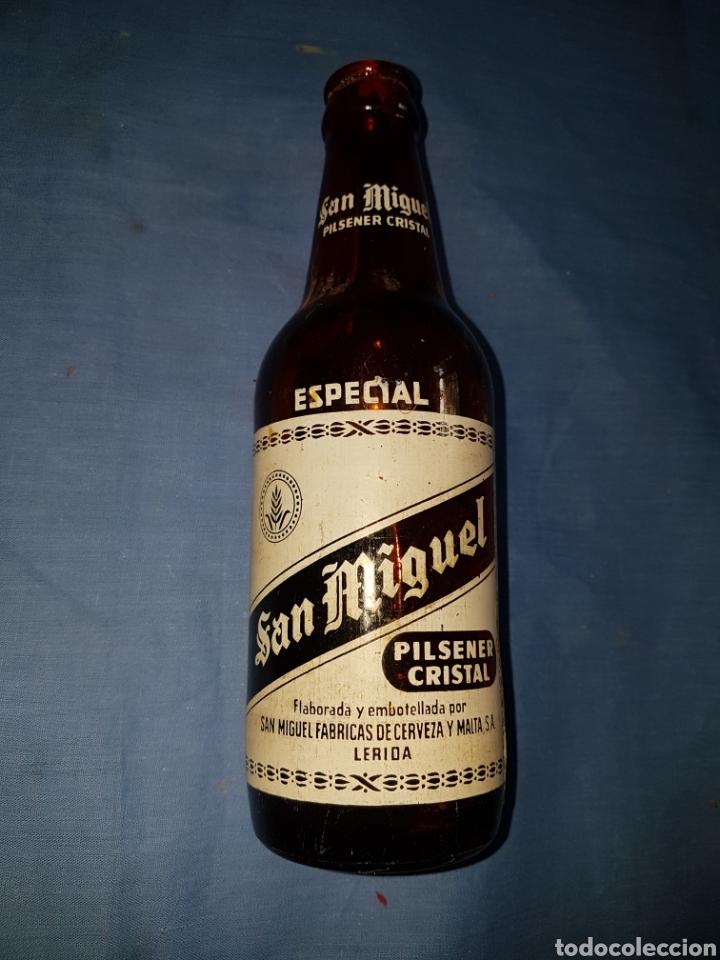 BOTELLA CERVEZA TERCIO SAN MIGUEL ESPECIAL SERIGRAFIA (Coleccionismo - Botellas y Bebidas - Cerveza )