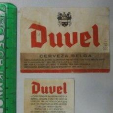 Coleccionismo de cervezas: ETIQUETA CERVEZA BELGA DUVEL. Lote 124447311