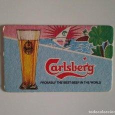Coleccionismo de cervezas: CARLSBERG ANTIGUO POSAVASOS CARTON RARO DIFICIL COASTERS CERVEZA BEER BIER BIERE. Lote 124513807