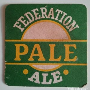 FEDERATION PALE ALE THE FEDERATION BREWERY LCL PILS LAGER POSAVASOS CARTON COASTERS CERVEZA BEER