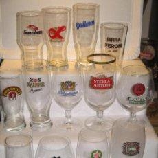 Coleccionismo de cervezas: LOTE CRISTALERIA EXTRANJERA. Lote 176577753