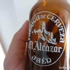Coleccionismo de cervezas: ANTIGUA BOTELLA DE CERVEZA EL ALCAZAR DE JAÉN DE 20 CL BISCUTER. Lote 197525426