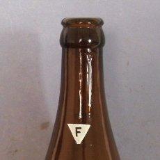 Coleccionismo de cervezas: RARA BOTELLA MORITZ CERVEZA FAMOSA ESPECIAL F - SERIGRAFIADA VERDE, 23CM APROX (VACIA). Lote 125083995